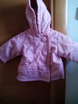 Abrigo de niña rosa,talla 3-6 meses,