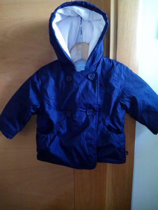 Abrigo de niña talla 12 meses azul marino