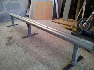 barandilla doble tubo de 2m Skate Scooter