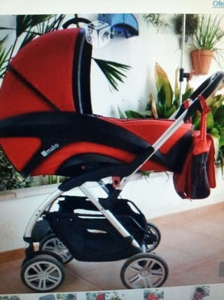 Carro de bebe casualplay xtren 3piezas color roja