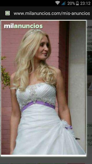 Vestido novia rosa clara milanuncios