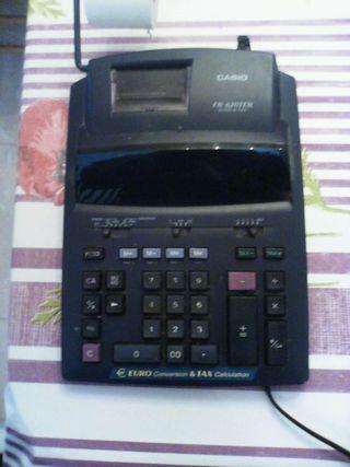 Calculadora registradora casio