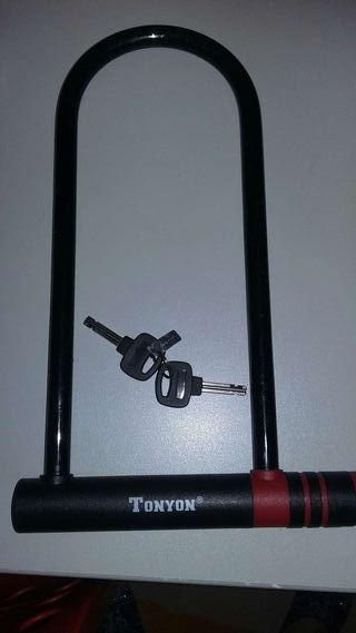 Candado bici con dos llaves