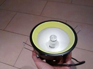 Downlight cocina/salón verde y negro