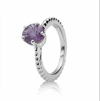 anillo pandora lila