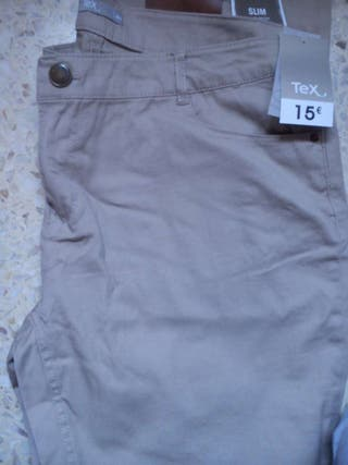 Pantalón marrón Mujer