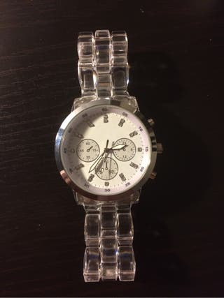 Reloj Mujer Correa Transparente