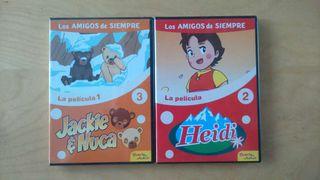 Dvd,s infantiles Heidi y Jackie Nuca