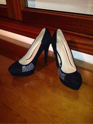 Zapatos Negros Con Brillantes