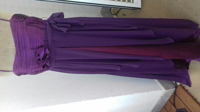 Vestido Color Morado De Segunda Mano Por 50 En Becerril De