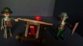 Playmobil. Lote 2 medievales + catapulca