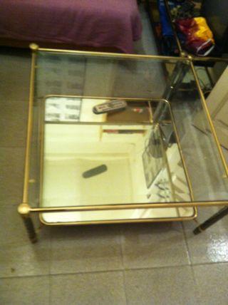 Mesa De Cristal Y Espejo