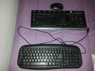 Teclado con cable/ teclado y raton inhalambrico