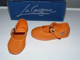 Merceditas La Cadena naranjas talla 21 nuevas