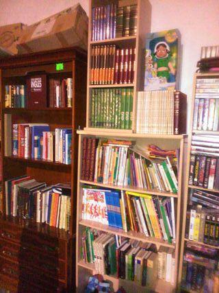 Surtido de libros variados y económicos