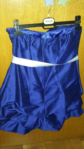 Vestido corto azulon