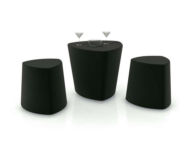 Conjunto mesa y taburete exterior diseño italiano