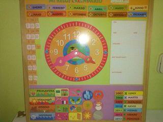 Reloj calendario para niños