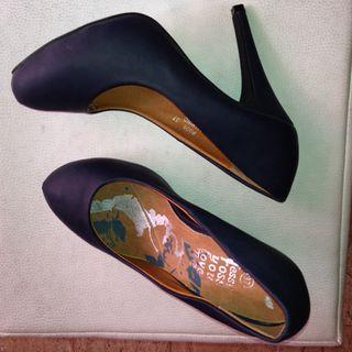 Zapatos Marino Tacon Alto Num 37 Nuevos
