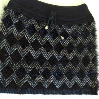 Falda Negra De Pelo Nueva Talla 36