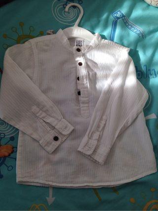 Camisa cuello Mao T. 24-36 NiÑO