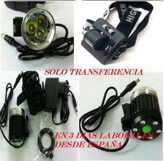 Vendo piezas despiece linterna foco bicicleta led xmlt6 4 18650