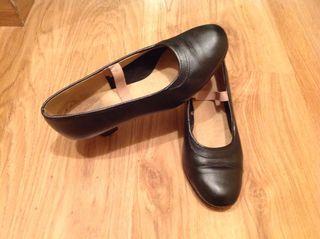 Zapato de mujer para baile danza Flamenco Piel