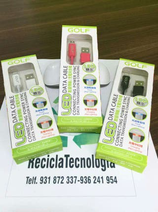 Cable GOLF Lightning iPhone iPod iPad (varios colores)