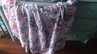 Pañuelo / foulard en tonos rosados