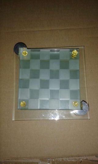 Posavasos cristal ajedrez