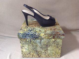 Zapatos Tacón Negros 38 Sabates Taló. Peep toe