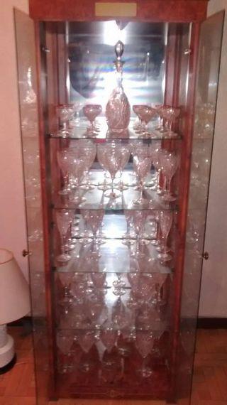 Cristaleria de cristal de roca con bordes 18 klt