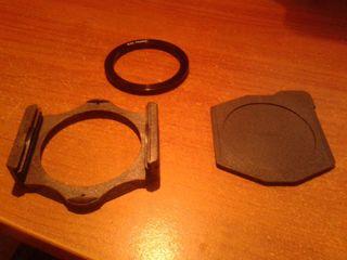 Potafiltros Cokin con tapa protectora+ anillo adap