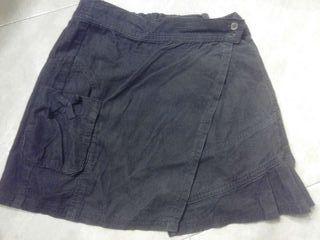 Minifalda pana fina gris 6 años