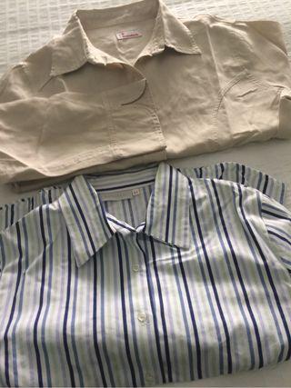 Lote De Dos Camisas Estan Nuevas Una De La Marca Bandolli Talla Xl Y La Otra 44