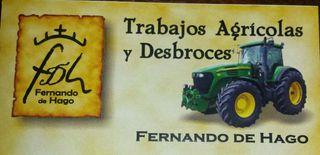 Se hacen trabajos agricolas y desbroces