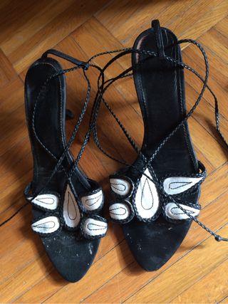 Sandales Noir Et Blanche