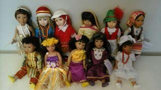 11 muñecas de porcelana