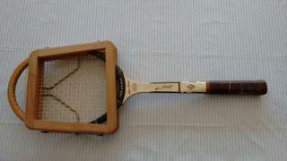 Raqueta madera tenis von braun