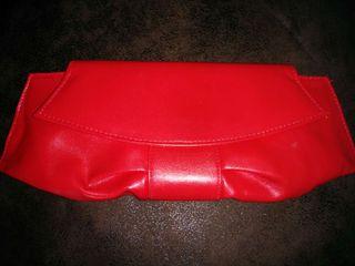 Cartera/clutch roja