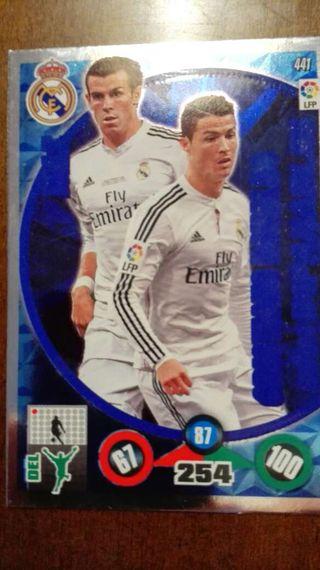 Cromo Bale Cristiano Ronaldo error impresión