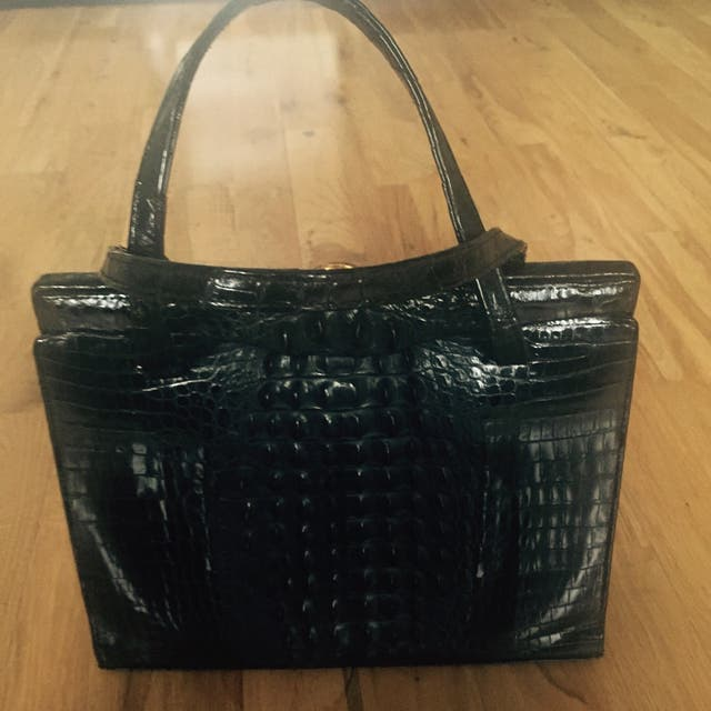 Real Crock Leather Bag
