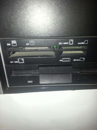 Lector de targetas y disquetera pc ordenador