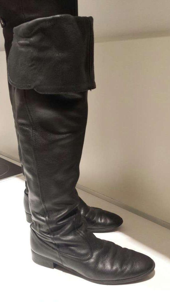 Botas altas cuero zara