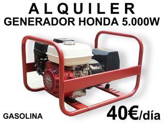 ALQUILER GENERADOR 5.000W