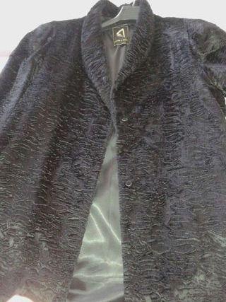 Abrigo lujo negro
