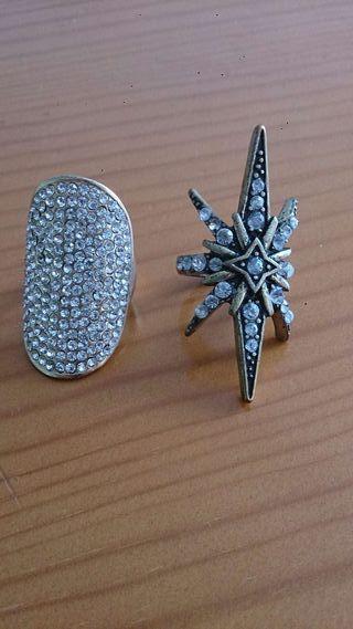 Pack de anillos con brillantes