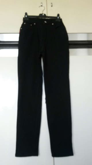 Leggings, tissu côtelé noir, 38. Neuf