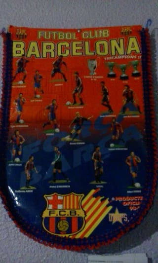 Banderin de f.c. barcelona era 90's