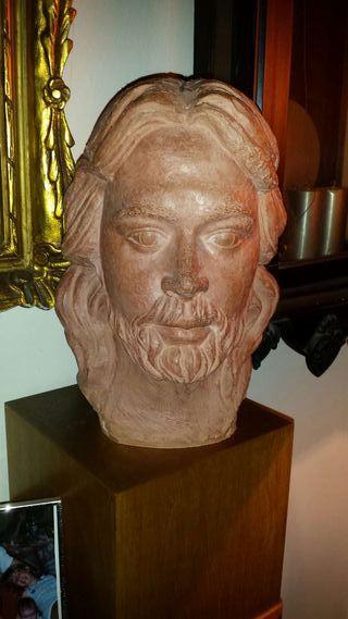 Escultura de autor R.Cuello autèntica. Autoretrato